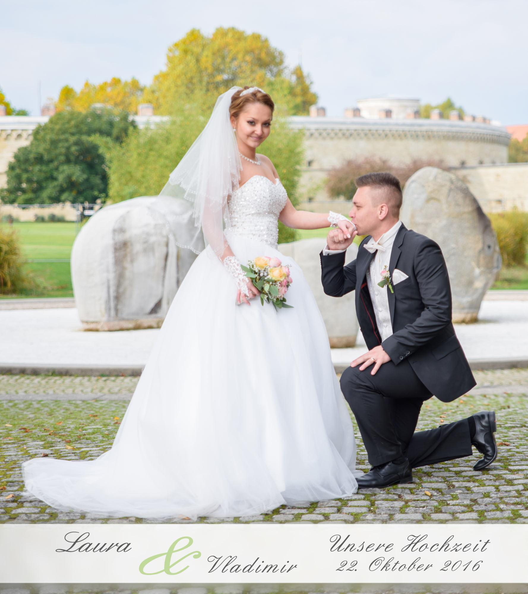 Hochzeitsfotobuch von Laura & Vladimir aus Ingolstadt