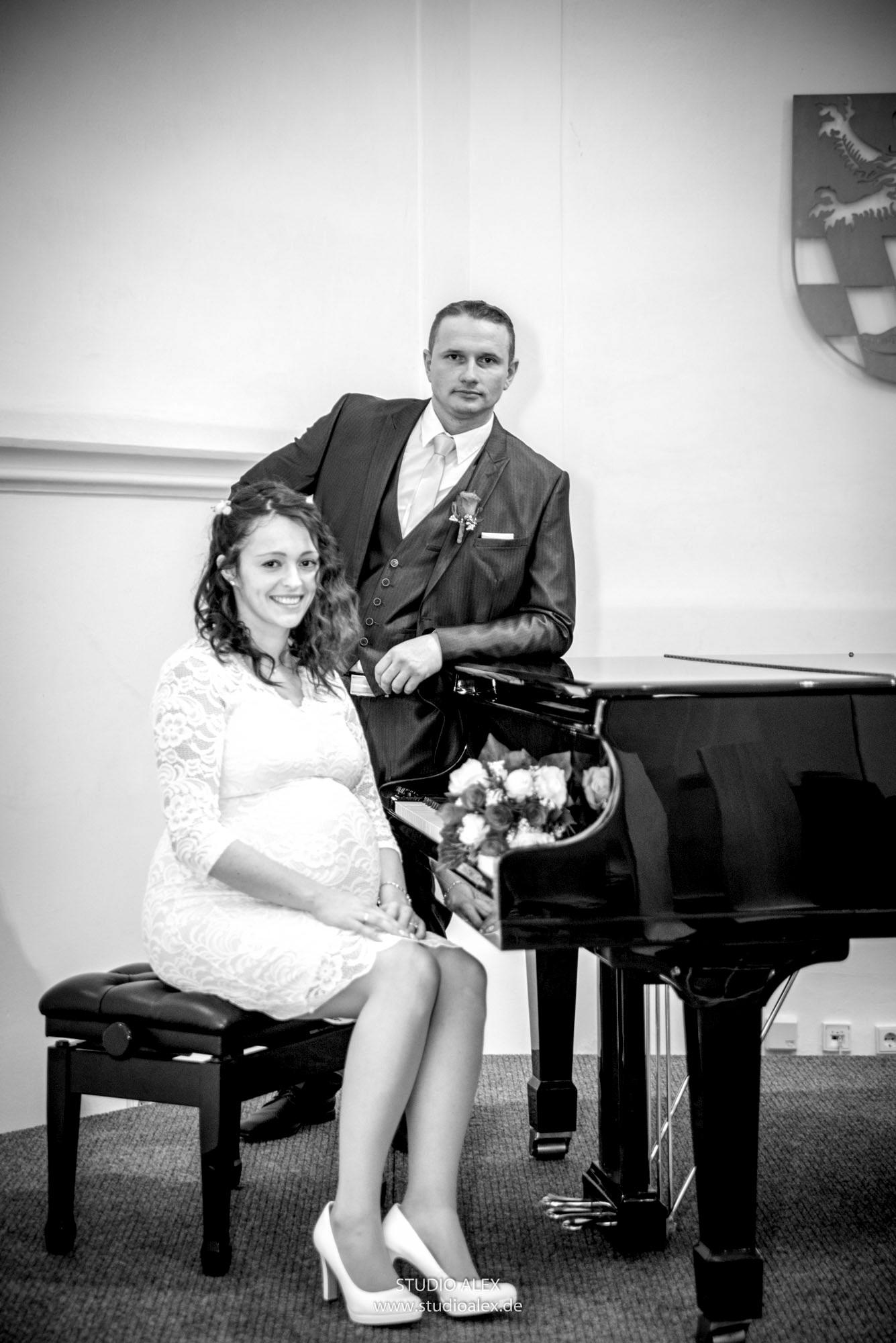 Hochzeitsfotos in der Spitalkirche Schwandorf