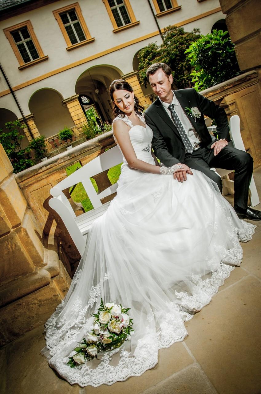 Kreative Hochzeitsfotos in Bamberg Schloss