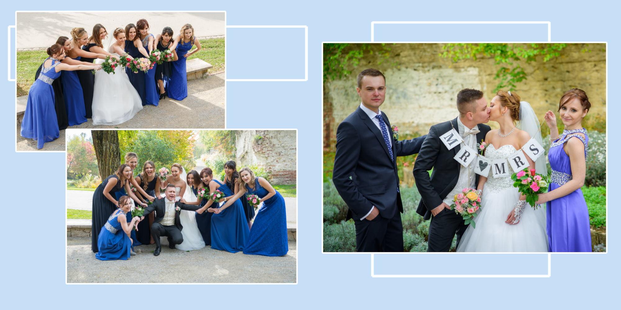 Gruppenfotos Hochzeitsfotos im Klenzepark Ingolstadt