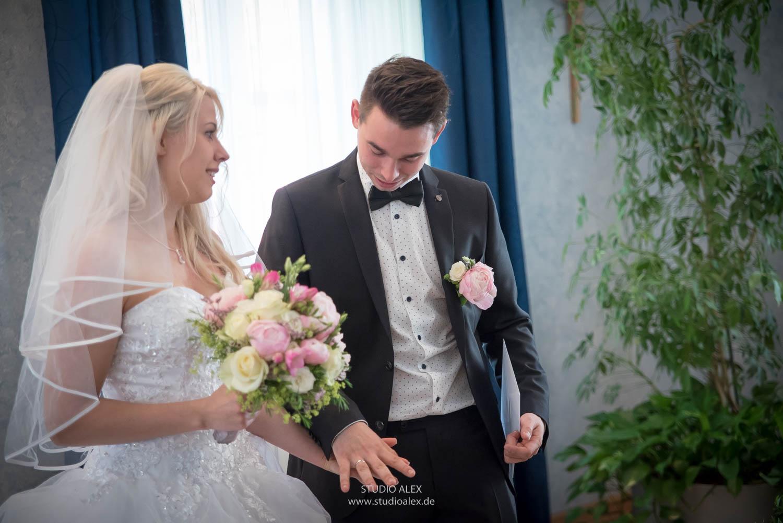Brautpaar in Rathaus Straubing