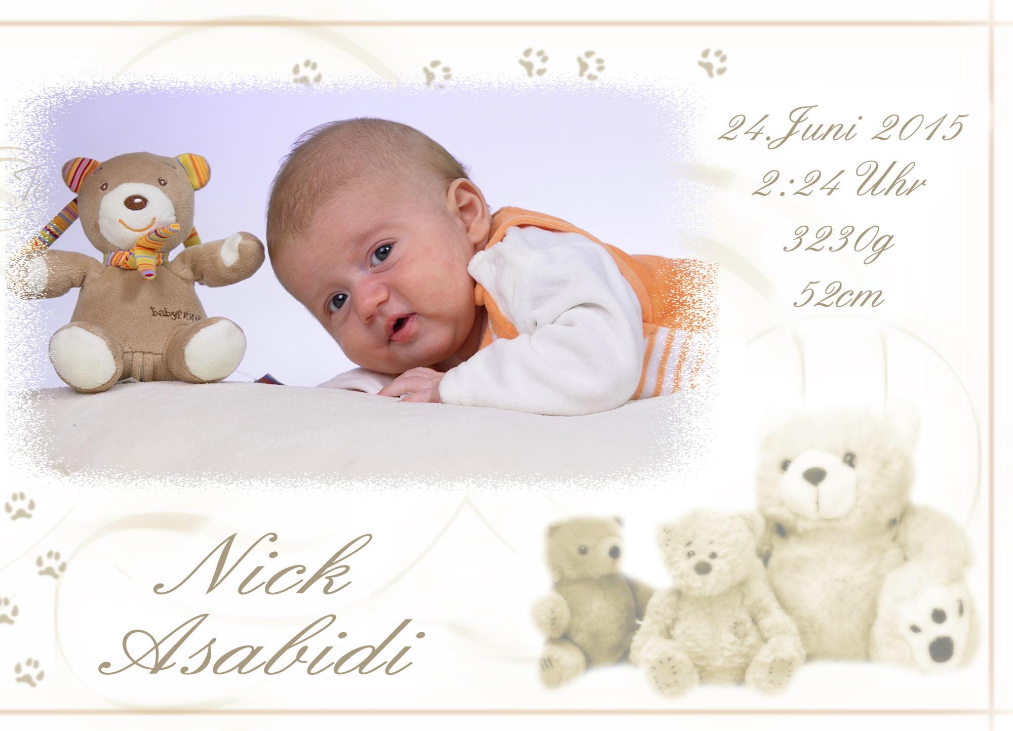 Babydankeskarte erstellen und bestellen