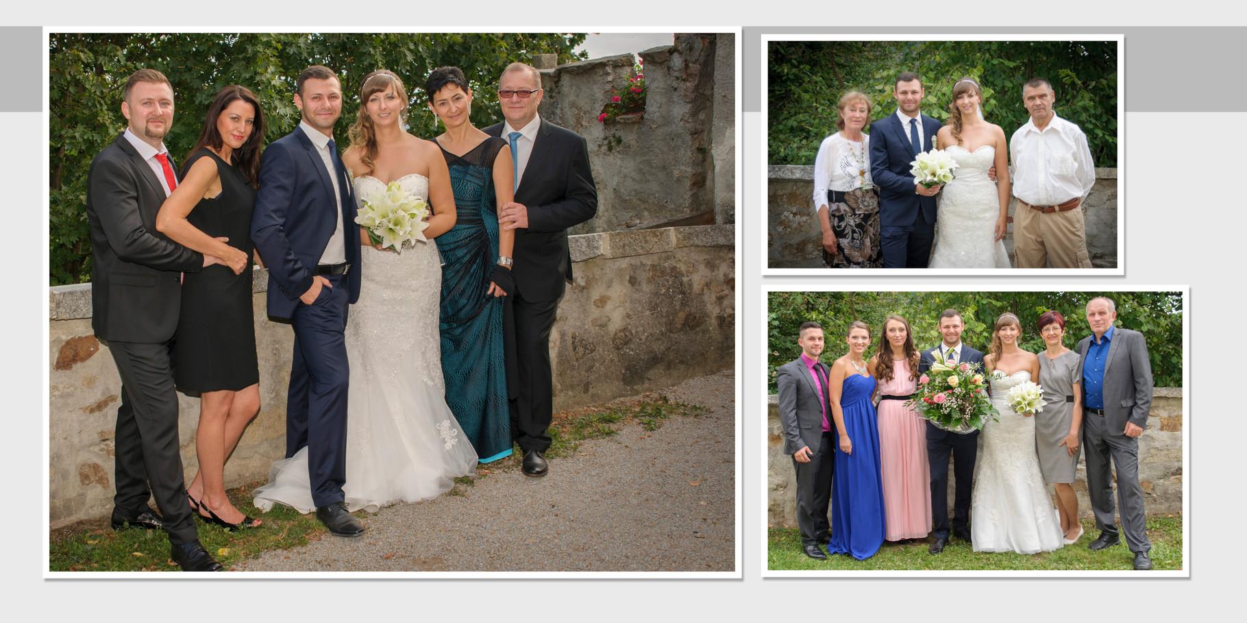 Hochzeitsfotograf für  Gruppenfotos  in Schloss Guteneck
