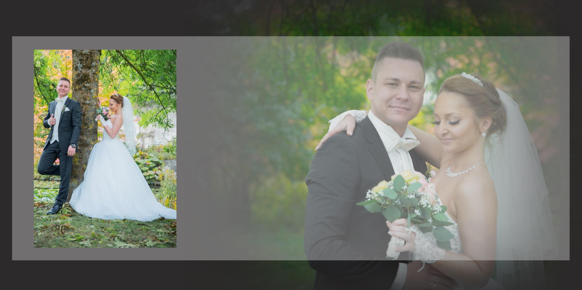 Hochzeitsfotobuch mit Plaxyglas