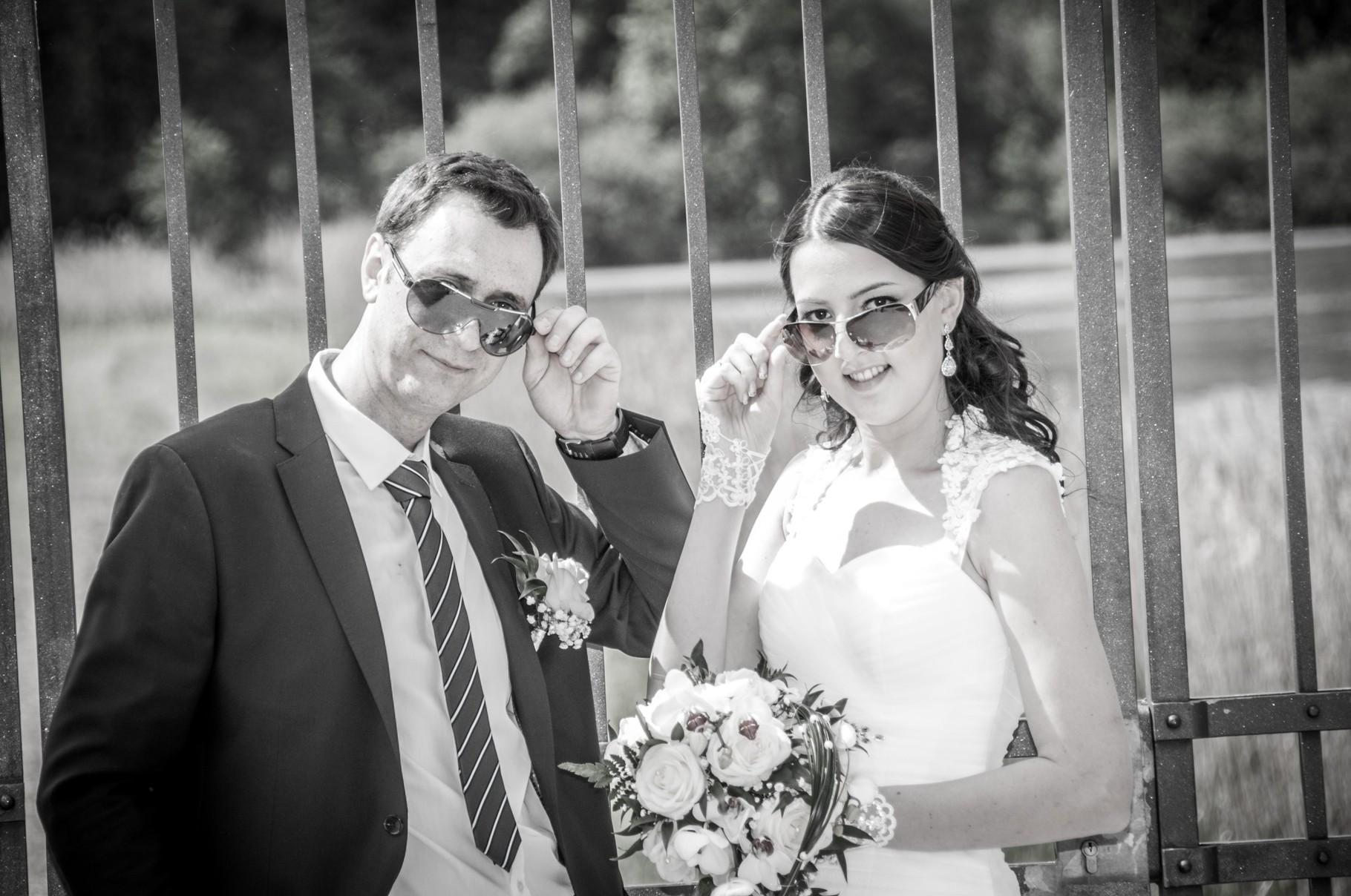 Kreative Hochzeitsfotos in Schloss Bamberg