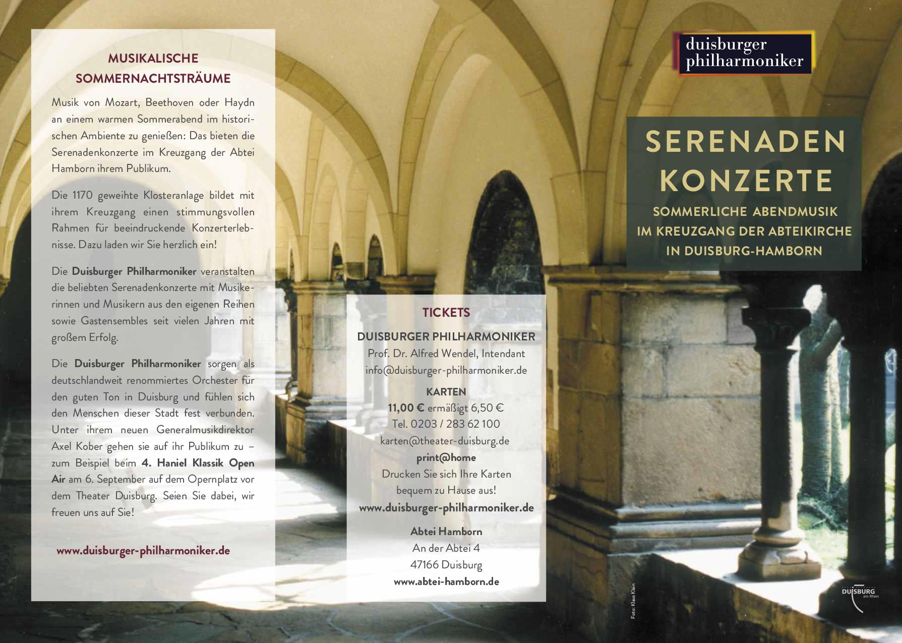 Serenadenkonzerte im Kreuzgang der Abteikirche
