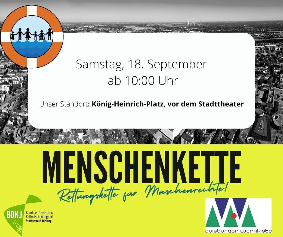 BDKJ und Duisburger Werkkiste Hand in Hand bei Rettungskette für Menschenrechte