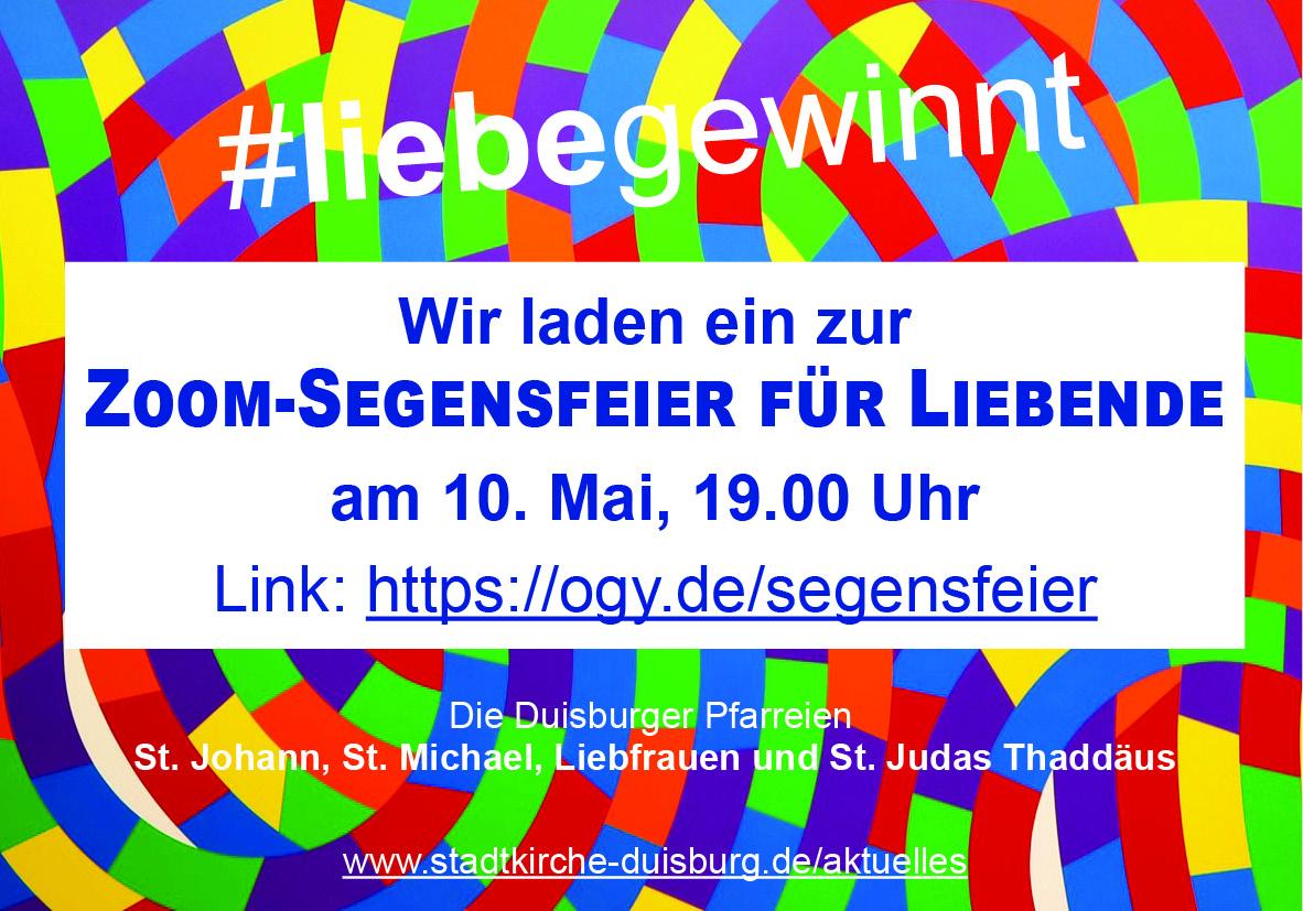 """Duisburger Pfarreien laden zu """"Segensfeiern für Liebende"""""""