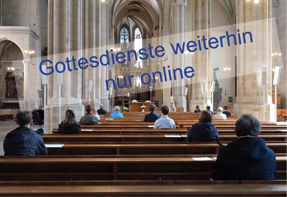 Gottesdienste weiterhin nur online