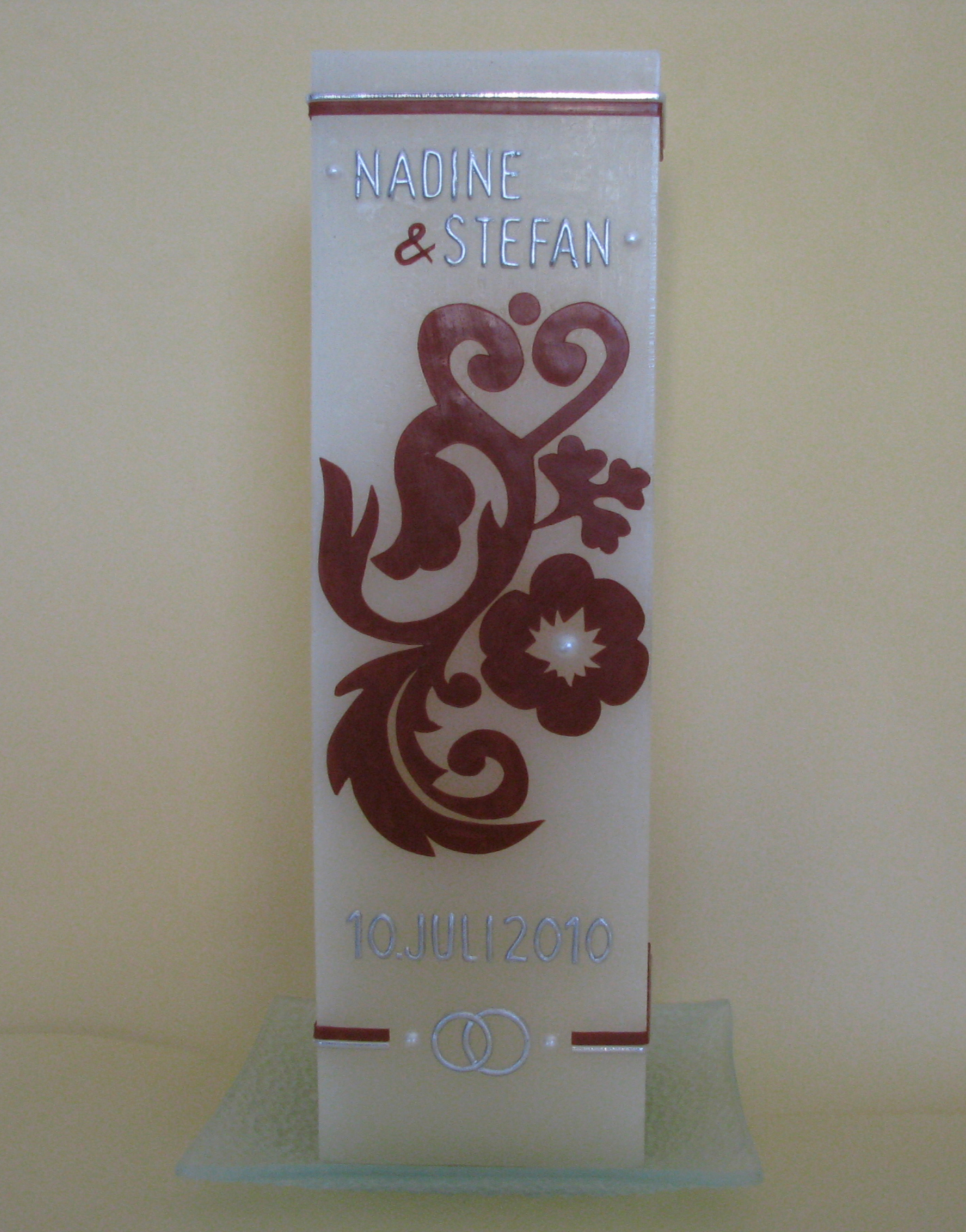 HE-0053, quadratisch, HxB ca 22 cm x 7,5 cm, Preis ca. € 34,--