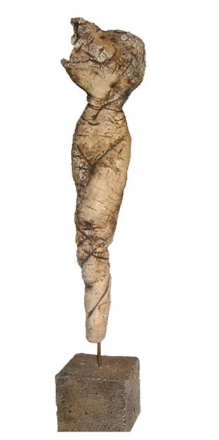 o.T. Skulptur aus Ton mit Moorlauge (verkauft)