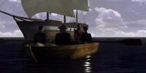 Les marins de Darwin accostent pour trouver de la viande