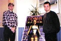 Paul Douglas et Toby Gard en 1997