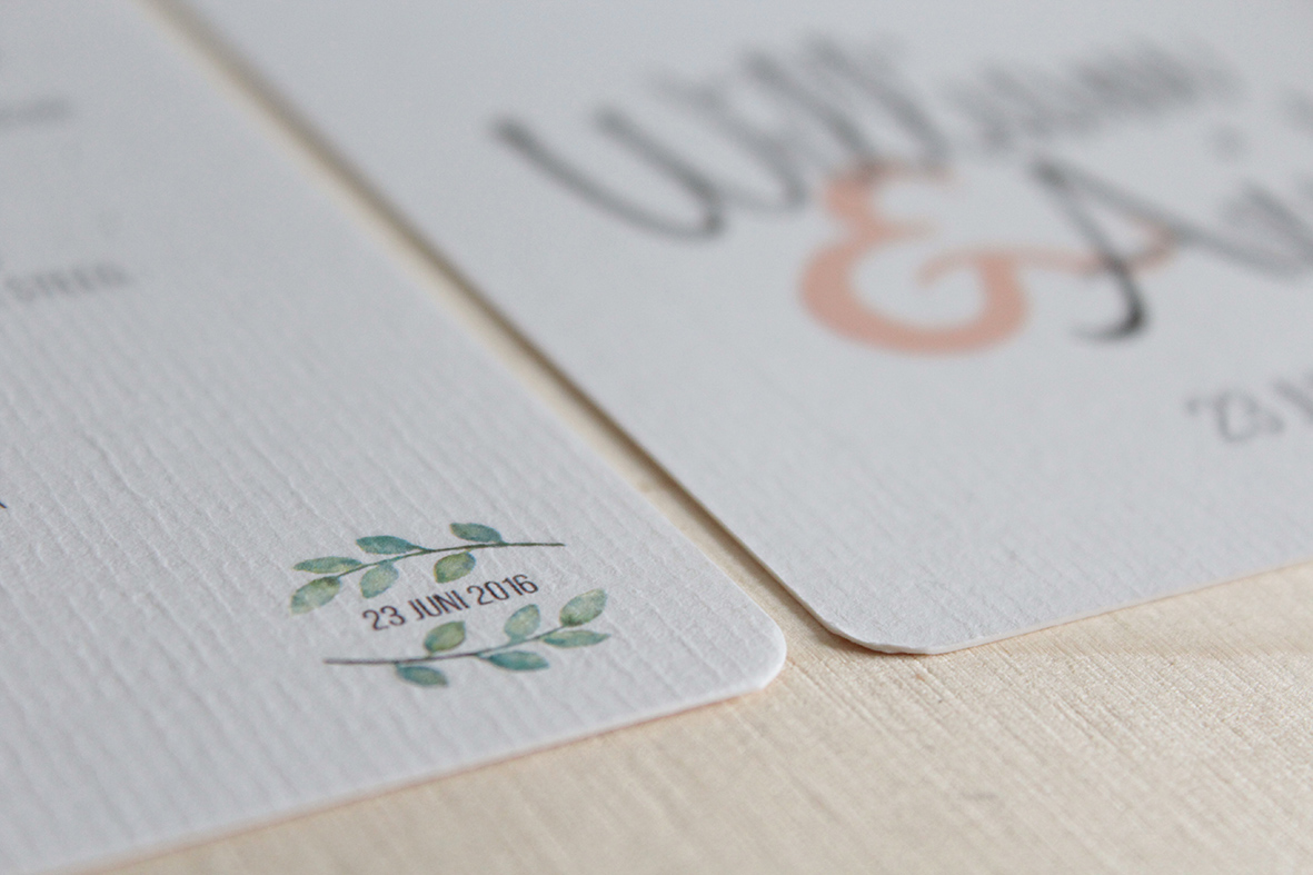 Trouwkaart, detail - weddingstationary