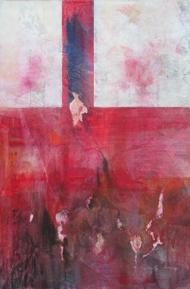 In jede Tiefe steigst du mit hinab. Abstraktes Bild auf Leinwand von Gabriele Koenigs (2017). Als Originalbild erhältich