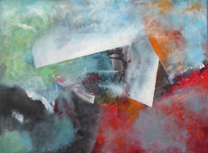 Von der Klarheit und dem Geheimnis. Acrylbild auf Leinwand (80 cm x 60 cm) von Gabriele Koenigs (2017). Verkäuflich.