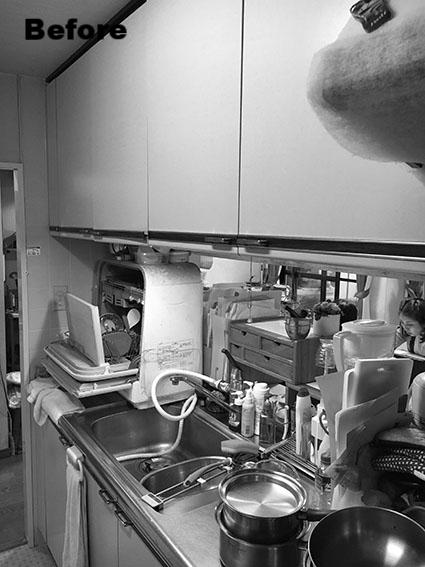 以前は、卓上食洗機が大きく場所をとっていました