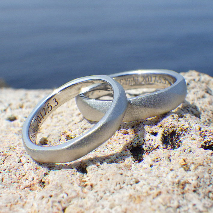 palladium free platinum wedding rings with no metal allergy - Free Wedding Rings