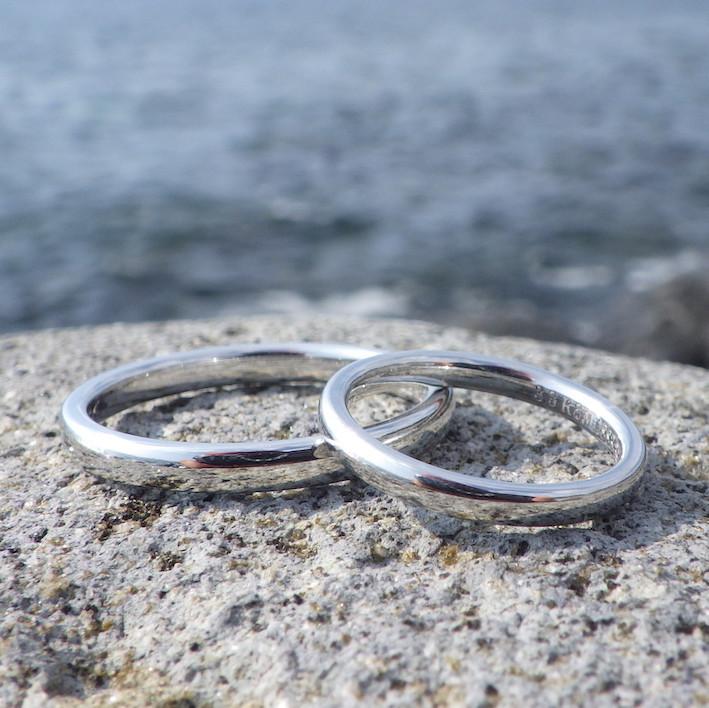 King Of Precious Metal Rare Material Iridium Marriage Rings