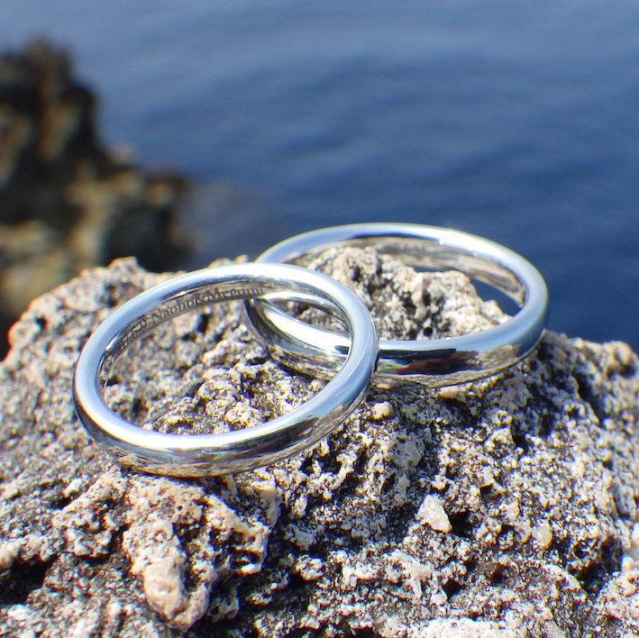 Form Of Love Remains 1000 Years Iridium Wedding Rings