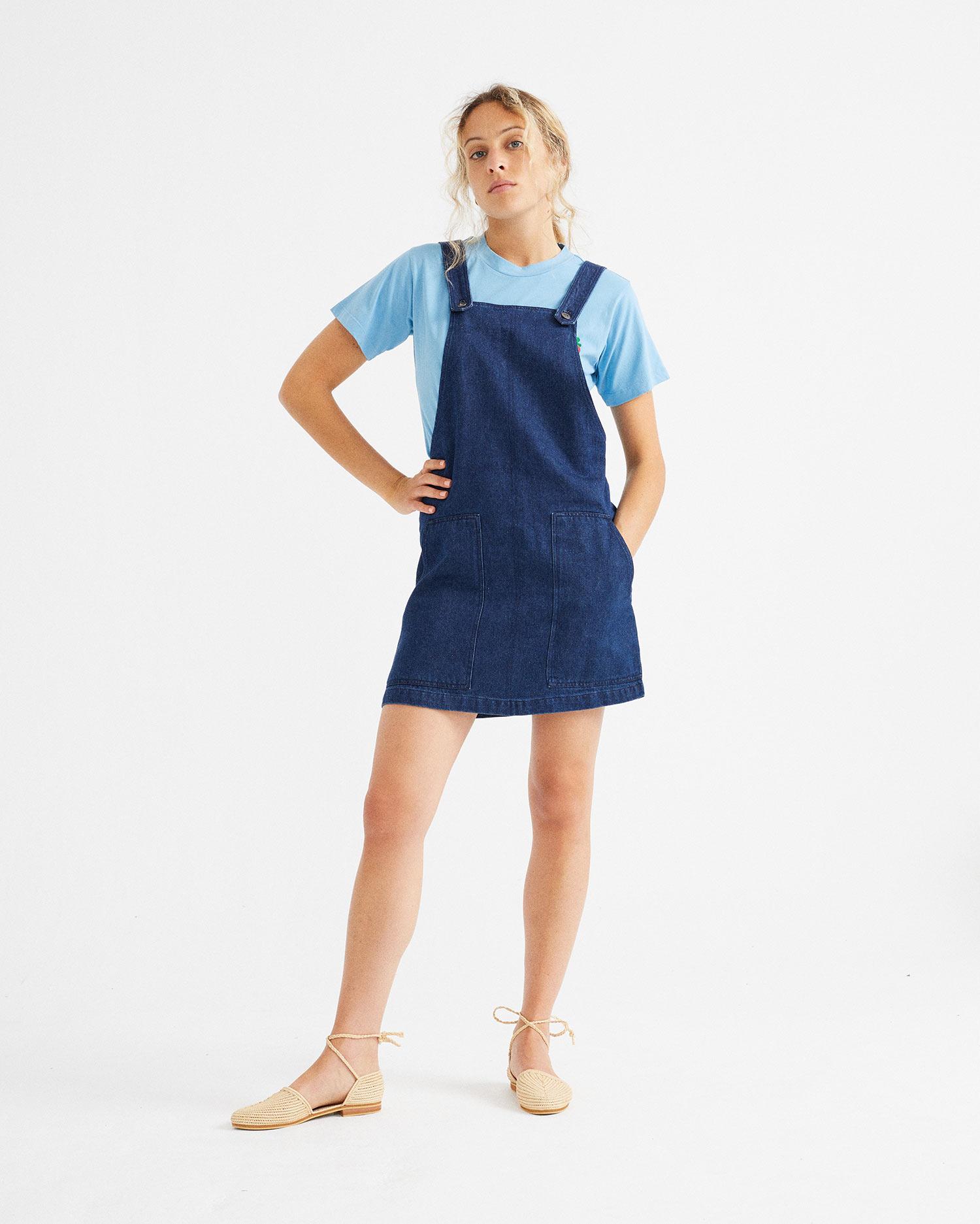 Denim Hemp Campanilla Dress