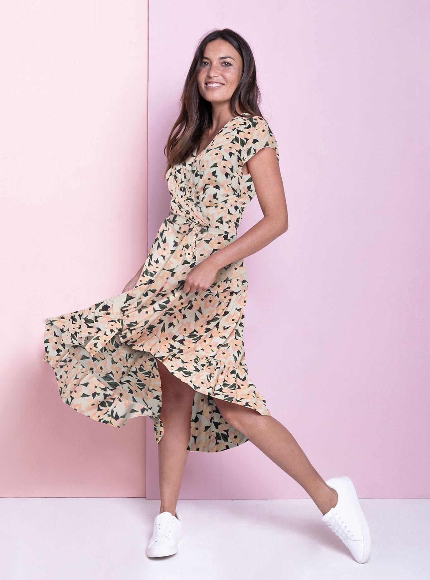 Sasi Maxi Dress - Flamingo Flowers