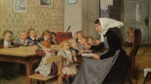 Mama als Lehrerin, eingebunden im Alltag des Kindes