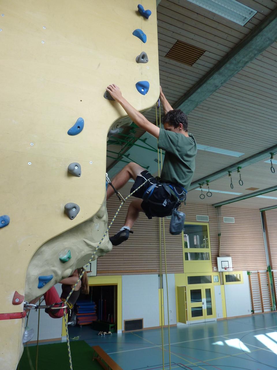 Klettern im freiwilligen Schulsport