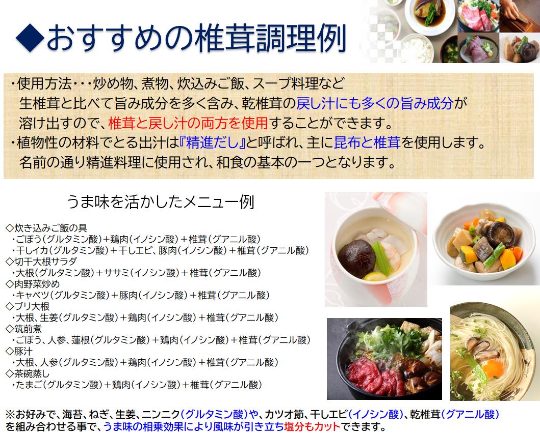 おすすめの椎茸調理例