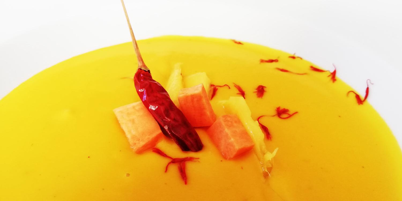 Süsskartoffel Mango Süppchen