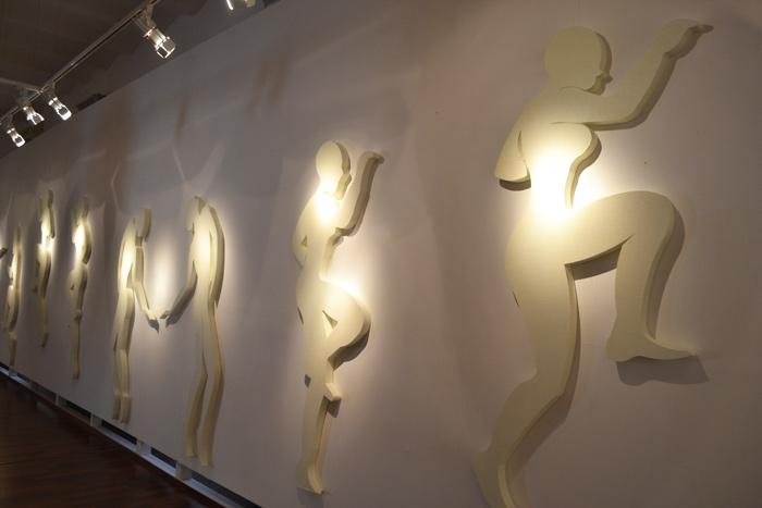 """""""Semelles de vent"""" Installation Lamine Dokman à l'institut français d'Alger, 2014"""