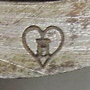 Smidsmerk van Hendrik van Merkerk (met dank aan het Virtuele Schaatsenmuseum)
