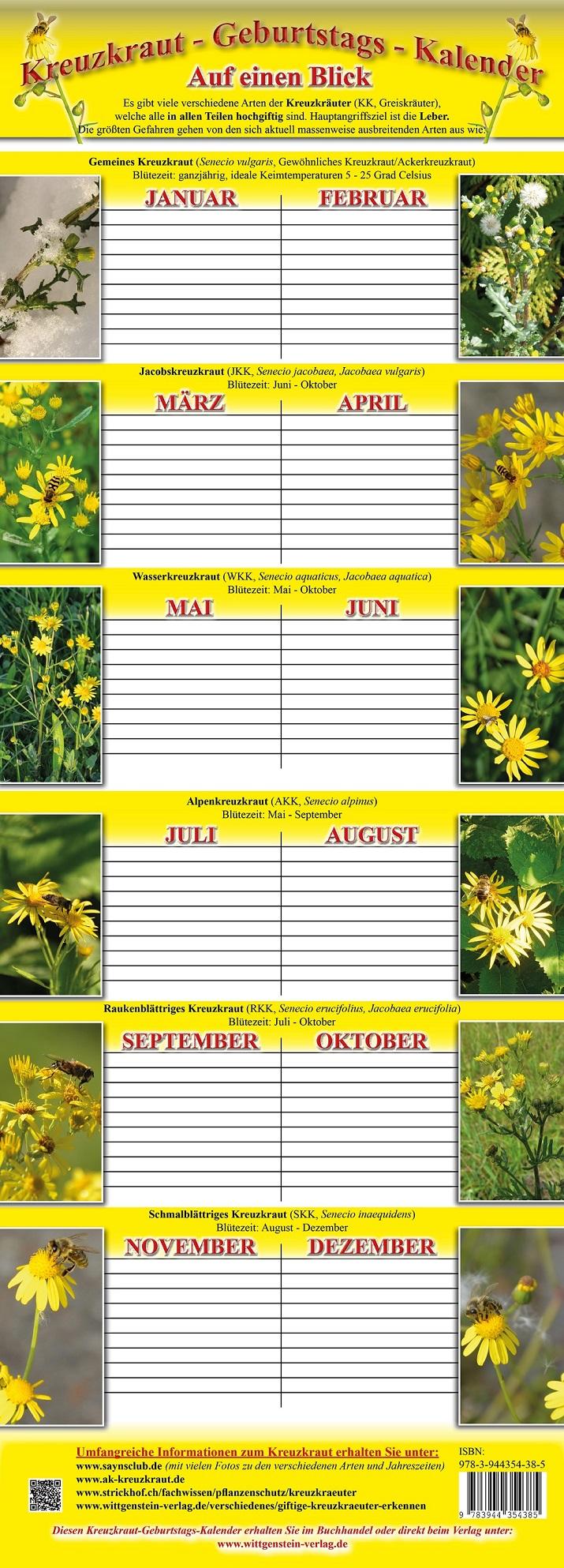 Kreuzkraut Kalender