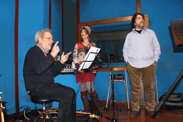 """Al Jam Session Music Studios con Emanuele Cisi e Sandro Gibellini  (registrazione del disco """"Spirito del Vento"""" per Philology Records)"""