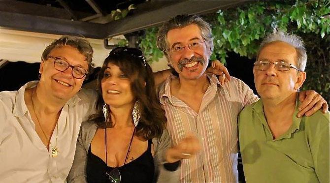 Con Tiziano Iannacci, Luca Garlaschelli e Sandro Gibellini