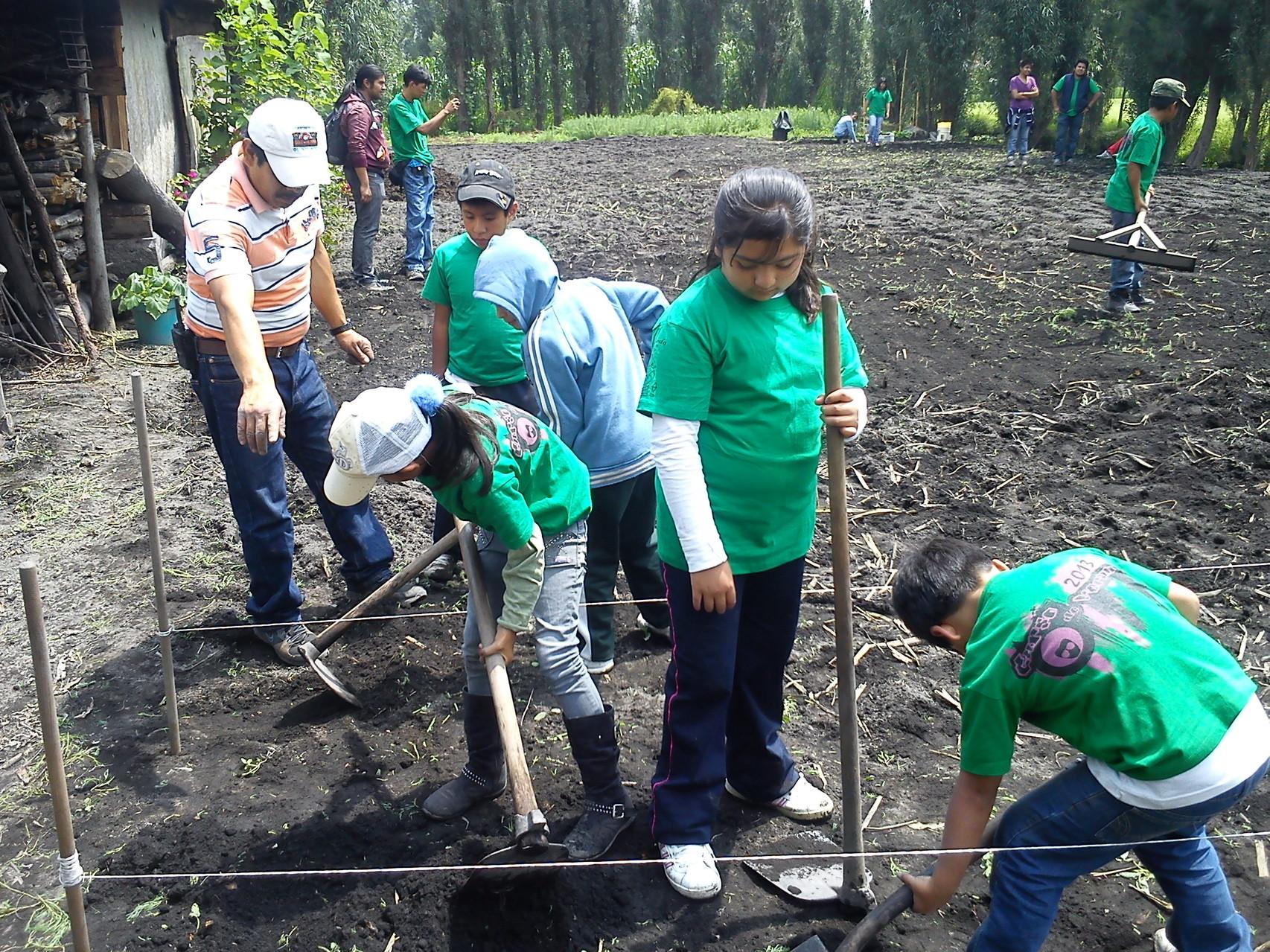 Aprender a  cultivar la tierra es, sin lugar a dudas,... ¡¡ Una lección para toda la vida !!