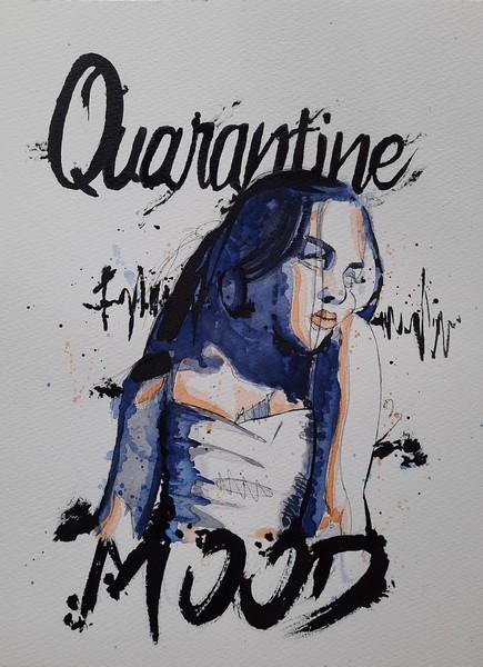 QUARANTINE MOOD :  aquarelle & encre de chine sur papier 23 x 31 300 g - 60 €
