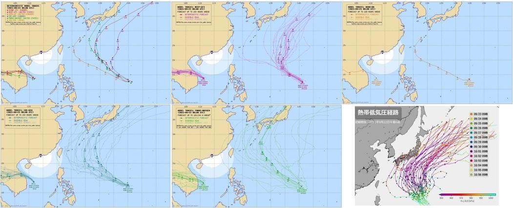 台風16号たまごの進路予想