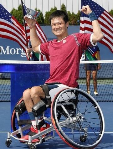 テニス全米OP車いすの部男子シングルス優勝