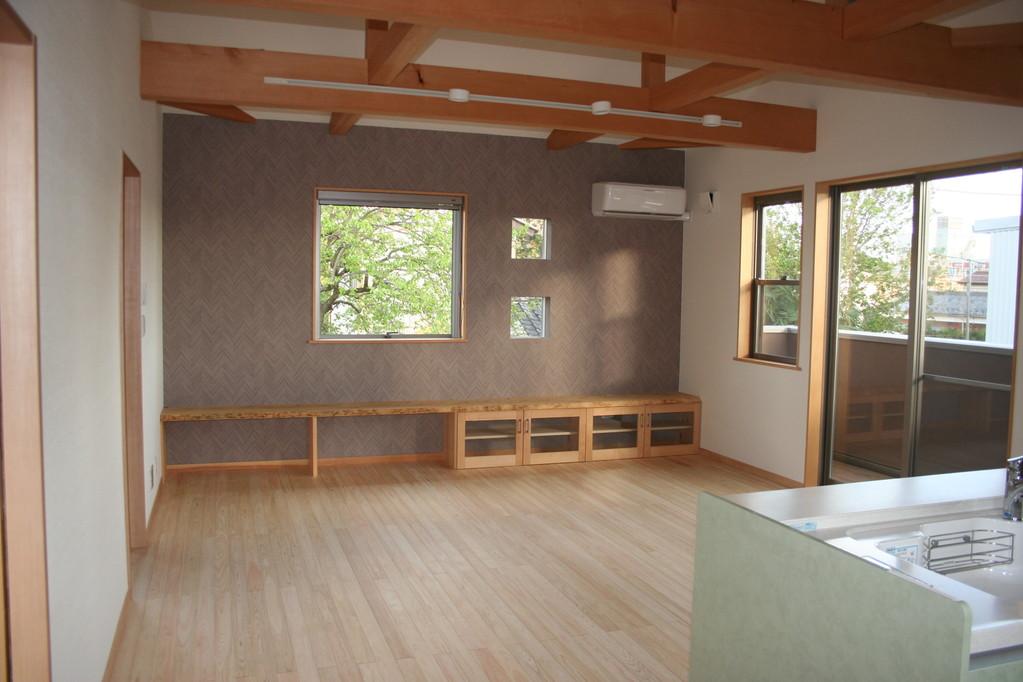 2階リビング造作家具