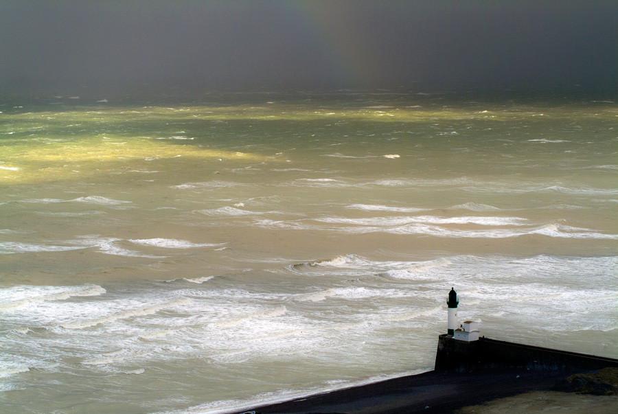 Un rayon de soleil après la tempête de neige en Baie de Somme