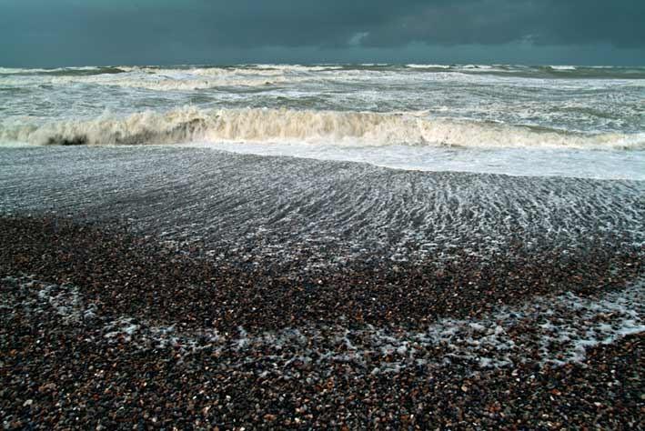 Coup de vent en hiver en Baie de Somme