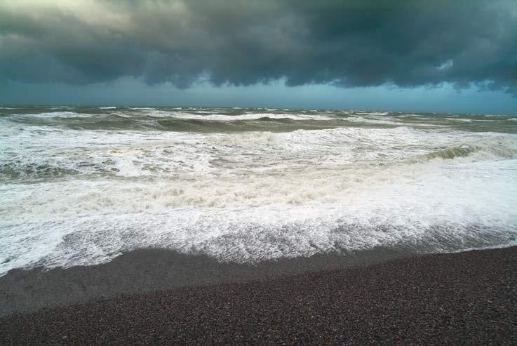 Coup de vent l'hiver en Baie de Somme