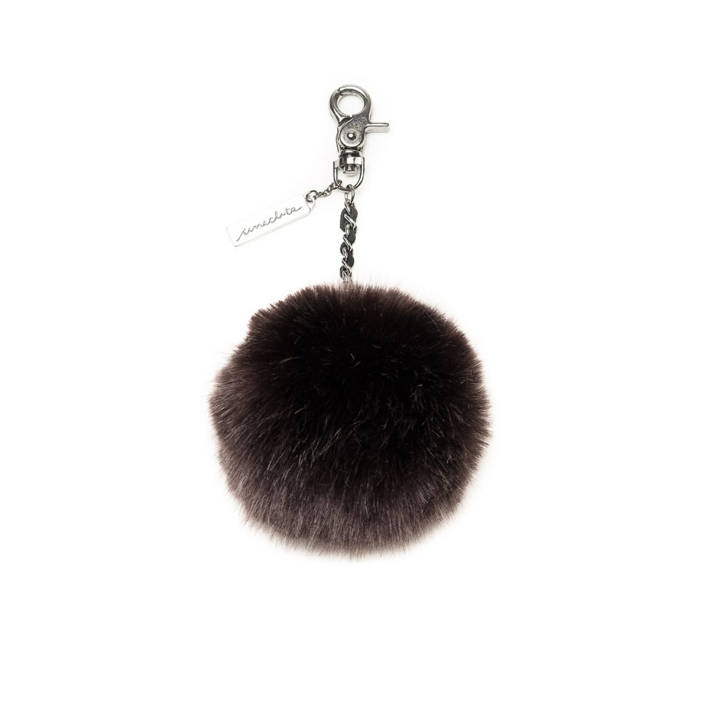 Unechta Pelz Pompon Dark Brown