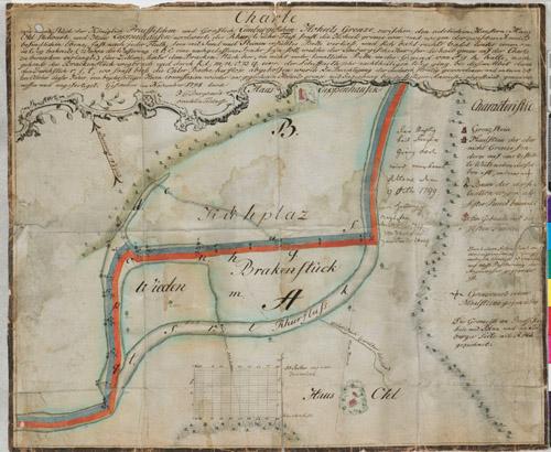 Preussich-Limburgische Grenze bei Lappenhausen 1798 / LAV NRW W Karten A Nr. 5453