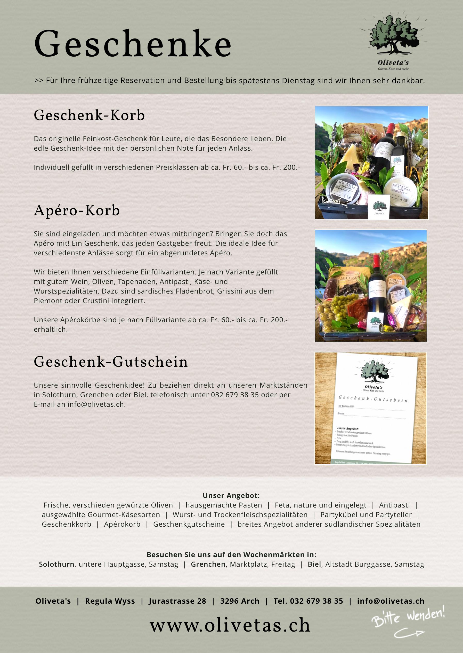 Geschenke oliveta 39 s oliven k se und mehr for Sardisches fladenbrot