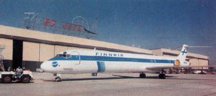 Die erste MD-83 für Finnair/Courtesy: McDonnell Douglas