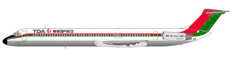 MD-81 in der Original-Bemalung/Courtesy: md80design