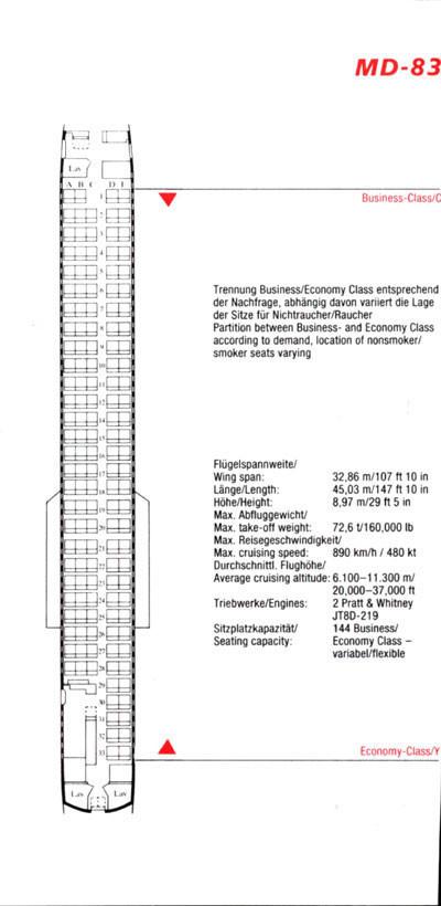 Komfort mit 144 Sitzplätzen/Courtesy: Austrian Airlines
