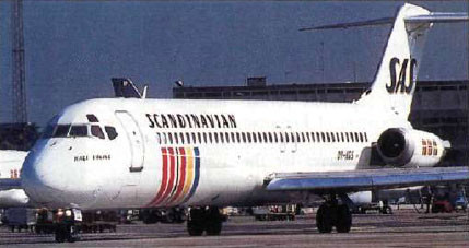 Douglas DC-9-41 der SAS/Courtesy: SAS